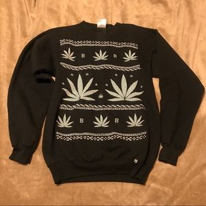 Sweaters - Pot Leaf Ugly Christmas Sweater Men Size S